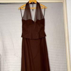 Women's Long Brown Dress
